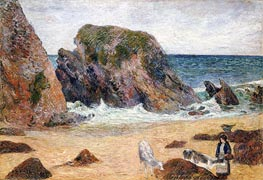 Cows on the Seashore, 1886 by Gauguin | Painting Reproduction