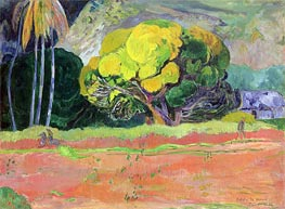 Fatata te Moua (At the Foot of the Mountain), 1892 by Gauguin | Painting Reproduction
