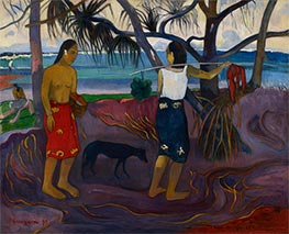 I Raro Te Oviri (Under the Pandanus), 1891 by Gauguin | Painting Reproduction