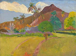 Tahitian Landscape, 1891 by Gauguin | Painting Reproduction