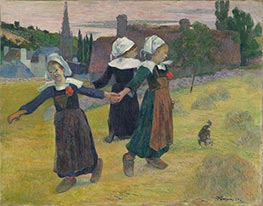 Breton Girls Dancing, Pont-Aven | Gauguin | Painting Reproduction