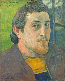 Self-Portrait Dedicated to Carrière, c.1888/89 von Gauguin | Gemälde-Reproduktion