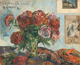 Still Life with Peonies | Gauguin | Painting Reproduction