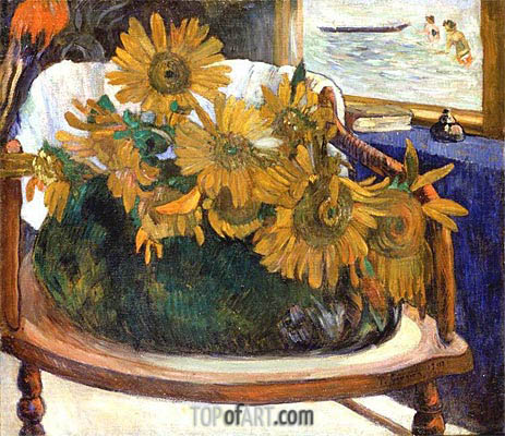 Still Life with Sunflowers on an Armchair, 1901 | Gauguin | Gemälde Reproduktion
