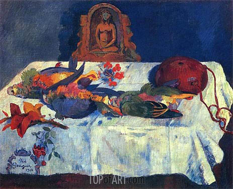 Still Life with Parrots, 1902 | Gauguin | Gemälde Reproduktion