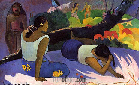 Arearea no vareua ino (Pleasures of the Evil Spirit), 1894 | Gauguin | Gemälde Reproduktion