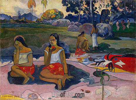 Sacred Spring: Sweet Dreams (Nave nave moe), 1894 | Gauguin | Painting Reproduction