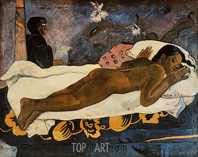 Manao Tupapau (Spirit of the Dead Watching), 1892 | Gauguin | Painting Reproduction