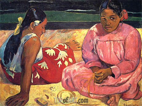 Two Woman on the Beach, 1891 | Gauguin | Painting Reproduction