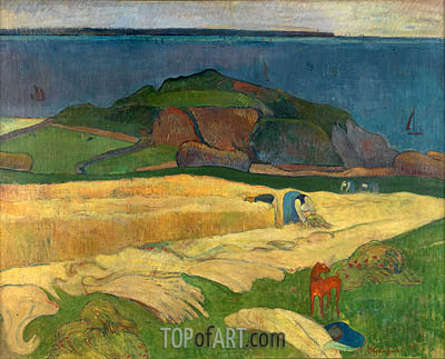 Seaside Harvest, Le Pouldu, 1890 | Gauguin | Painting Reproduction