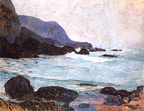 The Coast of Bellangenay, c.1890 | Gauguin | Painting Reproduction