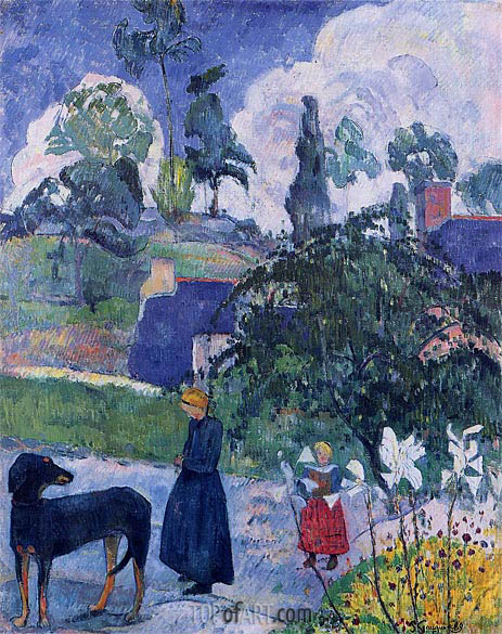 Among the Lilies, 1889 | Gauguin | Painting Reproduction