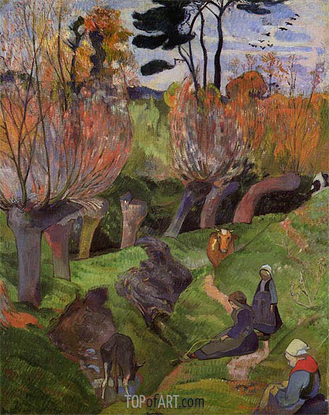 The Willows, 1889 | Gauguin | Painting Reproduction