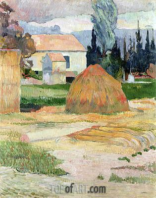 Haystack, near Arles, 1888 | Gauguin | Painting Reproduction