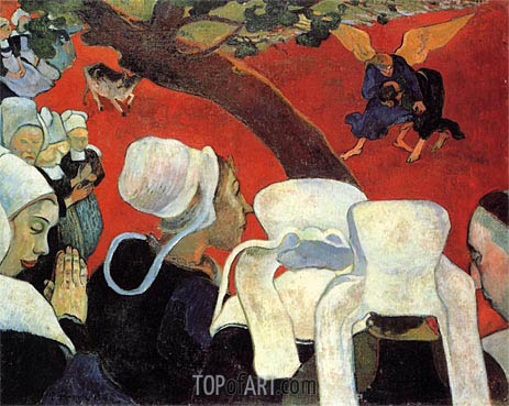 The Vision after the Sermon, 1888 | Gauguin | Painting Reproduction