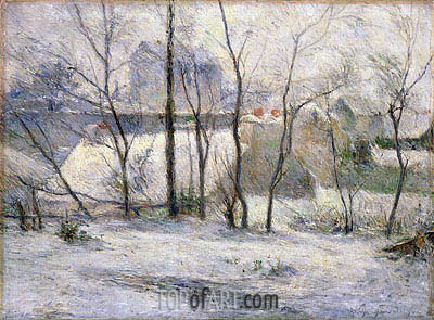 Winter Landscape, 1879 | Gauguin | Painting Reproduction