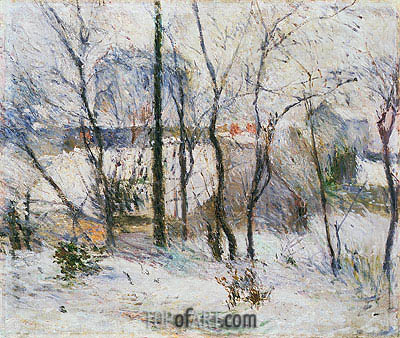 Garden under Snow, 1879 | Gauguin | Painting Reproduction