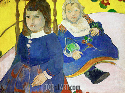 Two Children, 1889   Gauguin   Painting Reproduction