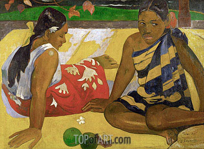 Parau Api (What's New), 1892 | Gauguin | Painting Reproduction