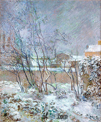 Snow in the rue Carcel, 1883 | Gauguin | Painting Reproduction