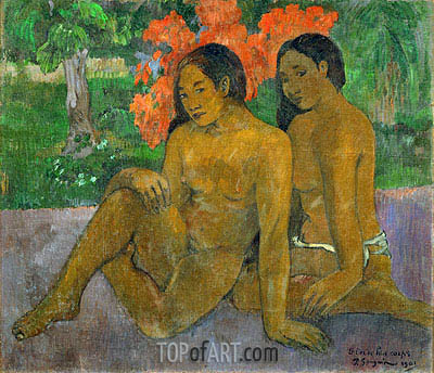 And the Gold of their Bodies, 1901 | Gauguin | Gemälde Reproduktion