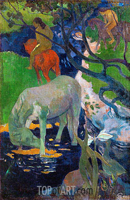White Horse, 1898 | Gauguin | Painting Reproduction