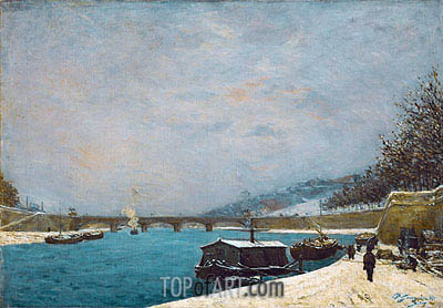 The Seine near the Pont de Jena, 1875 | Gauguin | Painting Reproduction