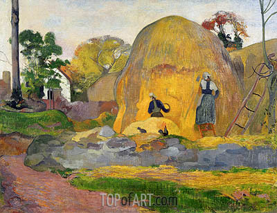 Yellow Haystacks (Blond Harvest), 1889   Gauguin   Painting Reproduction