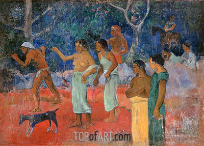 Scene from Tahitian Life, 1896 | Gauguin | Painting Reproduction