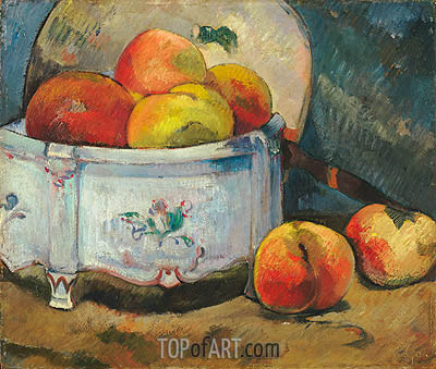 Still Life with Peaches, c.1889 | Gauguin | Gemälde Reproduktion