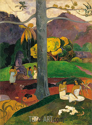 Mata Mua (In Olden Times), 1892 | Gauguin | Painting Reproduction
