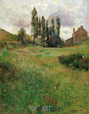 Dogs Running in a Meadow, 1888   Gauguin   Painting Reproduction