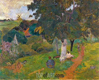 Coming and Going, Martinique, 1887 | Gauguin | Painting Reproduction