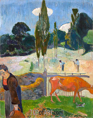 The Red Cow, 1889 | Gauguin | Gemälde Reproduktion