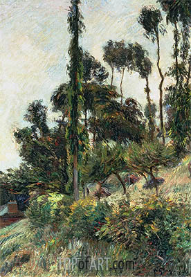 The Side of the Hill, 1884 | Gauguin | Painting Reproduction