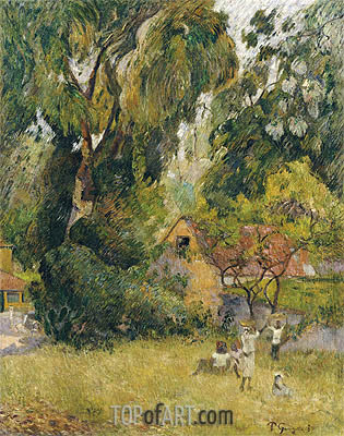Huts under the Trees, 1887 | Gauguin | Painting Reproduction