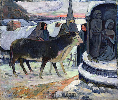 Christmas Night (The Blessing of the Oxen), c.1902/03 | Gauguin | Painting Reproduction