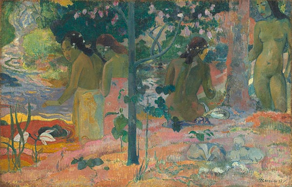 The Bathers, 1897 | Gauguin | Gemälde Reproduktion