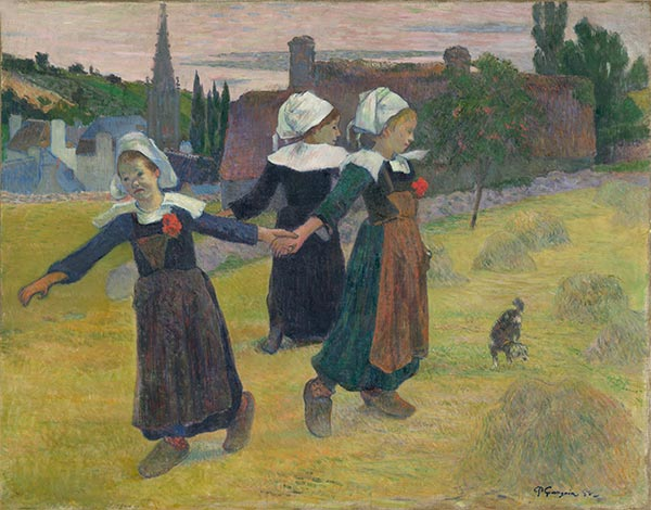 Breton Girls Dancing, Pont-Aven, 1888 | Gauguin | Painting Reproduction