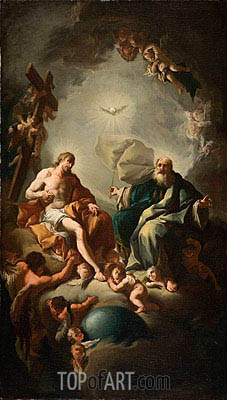 Holy Trinity, c.1726/28 | Paul Troger | Painting Reproduction