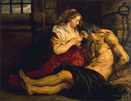 Roman Charity, c.1612 by Rubens | Painting Reproduction