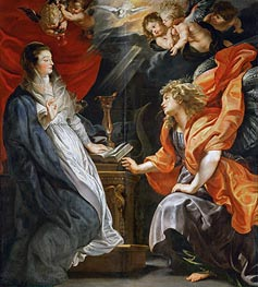 The Annunciation, 1609 by Rubens | Painting Reproduction