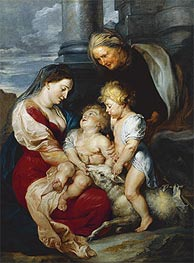 The Holy Family with the Lamb, c.1618 by Rubens | Painting Reproduction