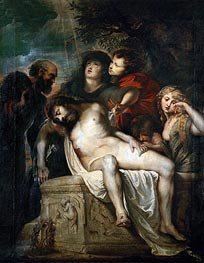 Deposition in the Sepulchre, c.1601/02 by Rubens | Painting Reproduction