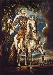 Equestrian Portrait of the Duke of Lerma, 1603 by Rubens | Painting Reproduction