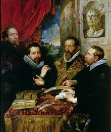 The Four Philosophers (Giusto Lipsius and His Pupils), c.1611/12 von Rubens | Gemälde-Reproduktion
