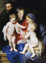 The Holy Family with Elizabeth & John the Baptist | Rubens | Gemälde Reproduktion