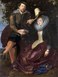 Rubens and Isabella Brant under the Honeysuckle, c.1609/10 by Rubens | Painting Reproduction