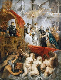 The Arrival of Marie de Medici in Marseilles, 3rd November 1600, c.1621/25 by Rubens | Painting Reproduction