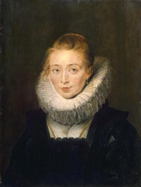 Portrait of Lady-in-Waiting to the Infanta Isabella, c.1624/26 von Rubens | Gemälde-Reproduktion